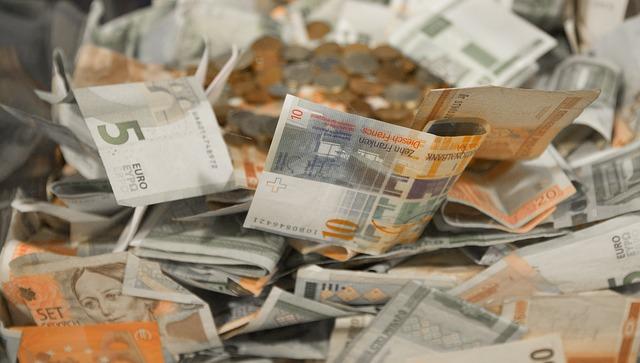 bankovky, papírové, eura