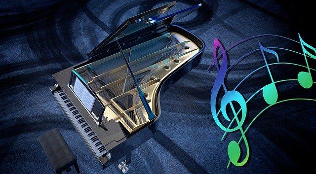 otevřené piano