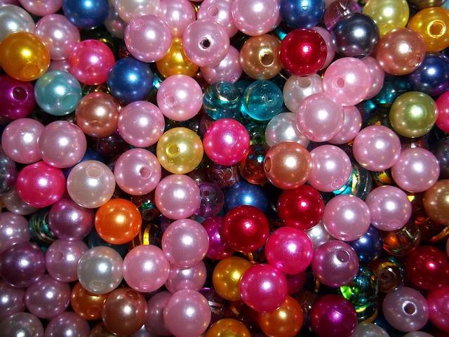 perleťové korálky